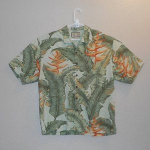 Jamaica Jaxx 100% silk Hawaiian print shirt